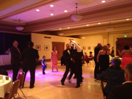 Some brothers dancing the night away.